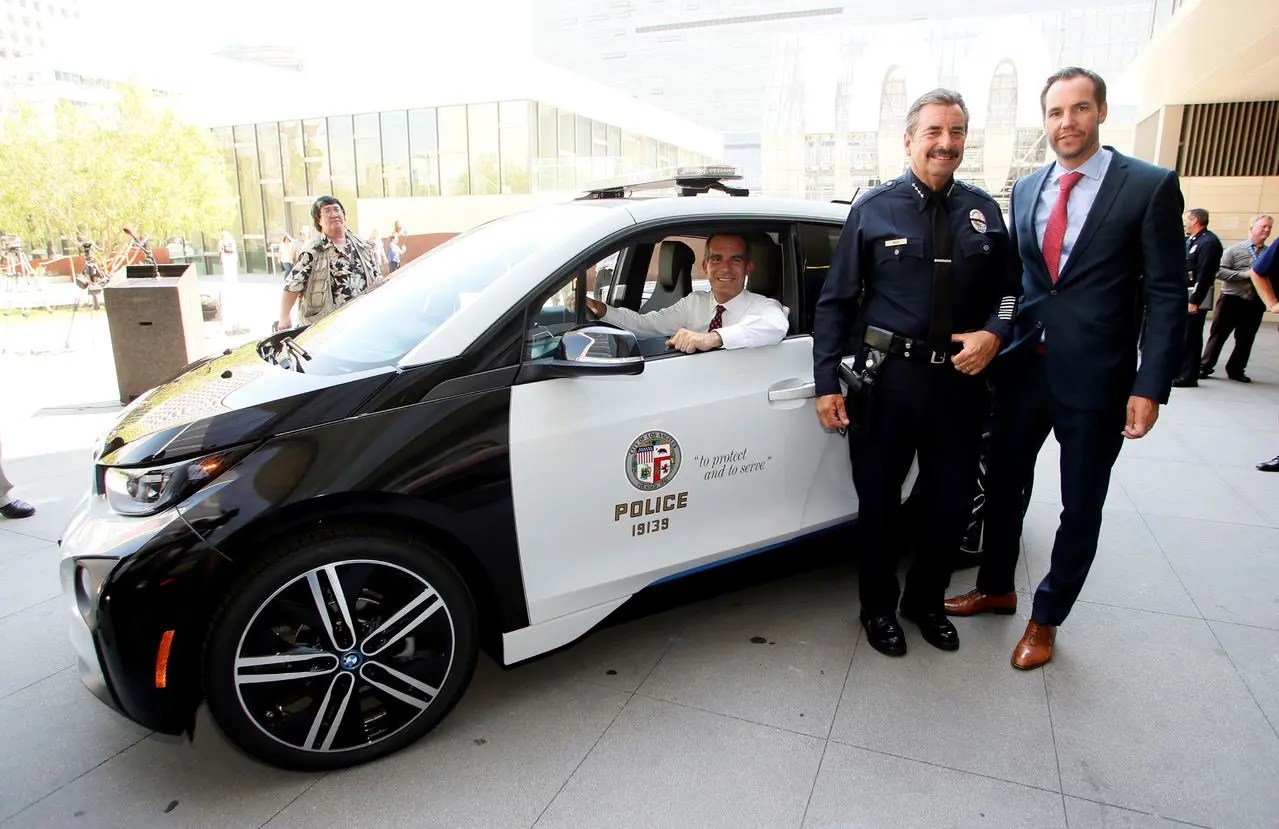 LAPDs New BMW I3 Amp Tesla Model S Electric Cars Pictures