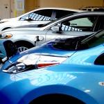 Electtric Ford, Blue, White LEAF