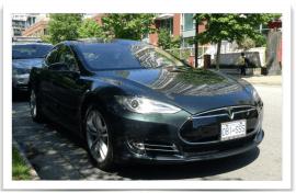 Tesla Model S Green