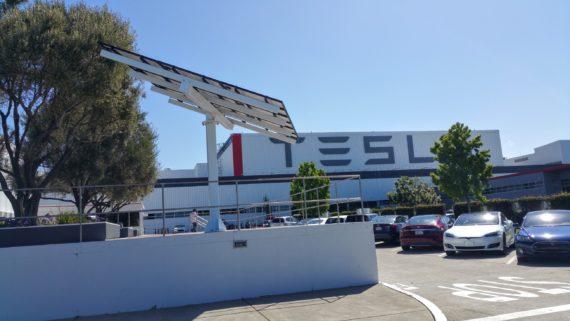 Tesla Fremont factory parking 4