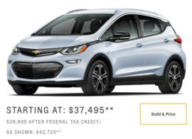 Chevrolet Bolt-starting price