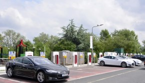 Teslas at Hopwood Park