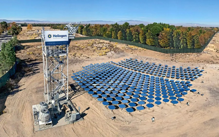 Heliogen concentrating solar array