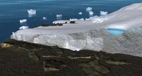 melting polar ice NASA