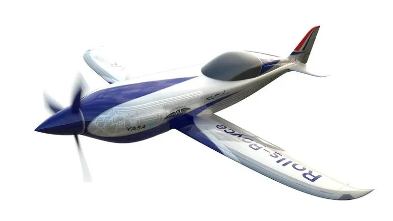 Rolls-Royce ACCEL E-Plane Racer. Photo: https://www.rolls-royce.com/media/press-releases/2019/19-12-2019-rr-unveils-all-electric-plane-targeting-the-record-books.aspx