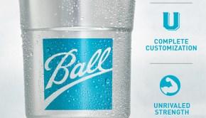 Ball aluminum drink cup