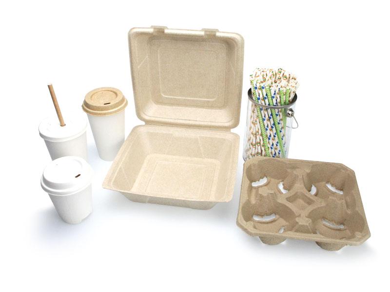 Footprint composatble food service products