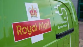 Royal Mail Logo on Electric Van