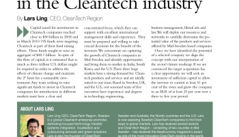 Capturing the growth in the cleantech industry