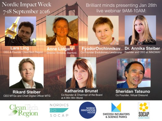 Speakers -  Brilliant minds Nordic Impact Week launch Silicon Valley  2016