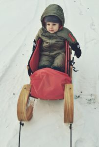 Sledding is a great family activity - it gives us a workout and the kids enjoy the fresh air.