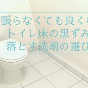 トイレ掃除を頑張らなくても良くなる!トイレ床の汚れを落とす洗剤の選び方