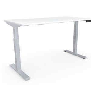 AMQ Height Adjustable Table, 30X60, Silver base