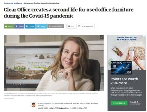 Clear Office Creates A Second Life For Used Office Furniture During The Covid-19 Pandemic