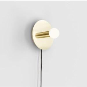 Dot Disk Wall Sconce, Brass