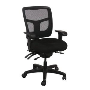 Office Master YS72 Mesh Mid Back Task Chair, Black