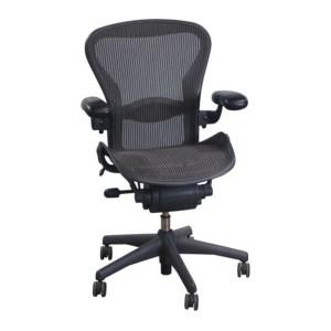 Herman Miller Aeron Used Full Function Size B Task Chair, Carbon