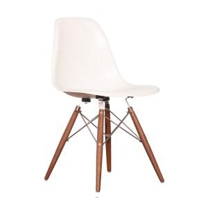 Organic Modernism Easy Side Chair, White