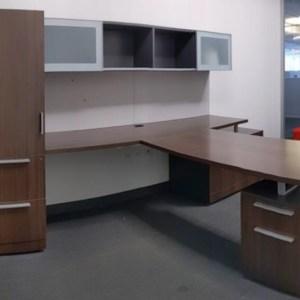 Allsteel Involve Private Office (Mahogany/Grey)