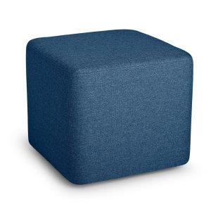 Poppin Block Party Lounge Ottoman, Dark Blue