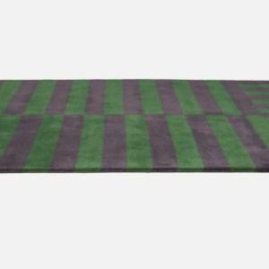 HEM Stripe Rug-Medium, Green
