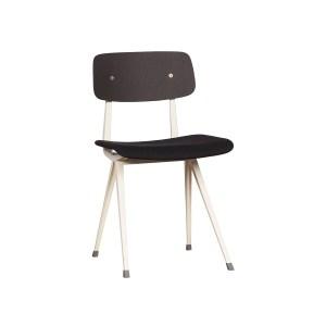 HAY Result Chair, Upholstered Seat – Dark Grey, Black