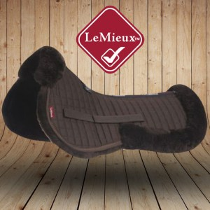 LeMieux Sheepskin Brown Wool Saddle Pads