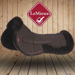 LeMieux Sheepskin Brown Wool Saddle Pads