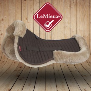 LeMieux Sheepskin Taupe Brown Wool Saddle Pads