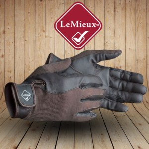 Pro Touch Performance Brown Riding Gloves
