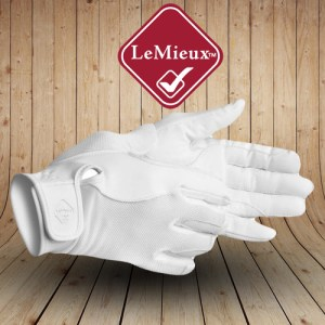 Pro Touch Performance White Riding Gloves