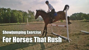 Showjumping exercise for horses that rush