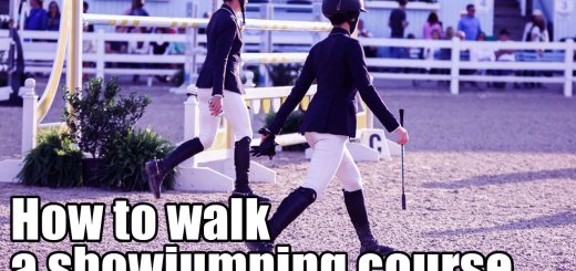 How to walk a show jumping course