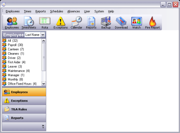 Focus software interface