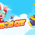 "Cannon Cat, by Loqheart, is an iOS only game where a flightless bird named Evil Emu, out of jealousy has captured all the flying fish, known as ""Skyfish,"" trapping them in bubbles. Evil Emu, with the help of his army of flightless birds and evil robots attempt to give the skies back to birds and birds alone. Only way to free these encapsulated Skyfish is from the sheer force of Meo blasting paws first through the bubbles they are trapped within. MEOW!"