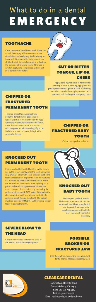 Dental Emergency Infographic