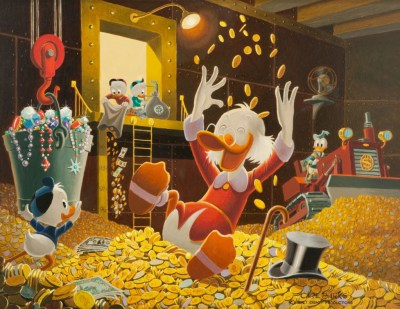 Donald Duck with money