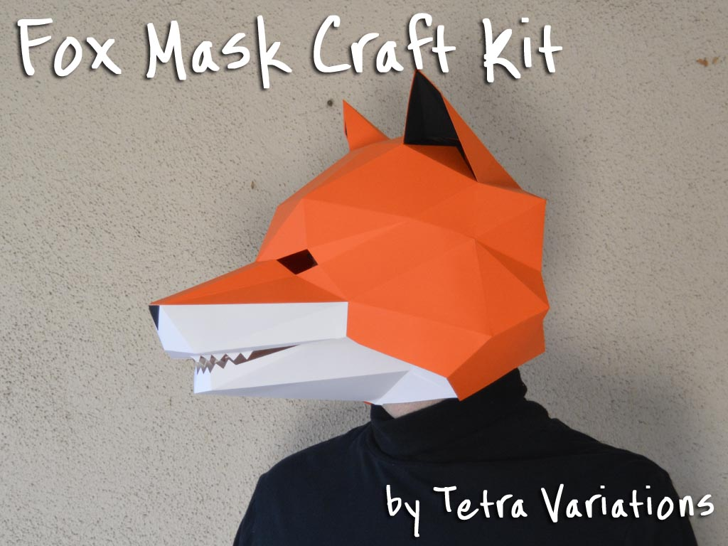 Art on the walk art craft fair by clear charity clear charity fox mask kit build a paper fox mask kit 30 value jeuxipadfo Image collections