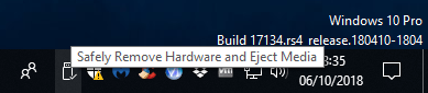 Safely Remove Hardware and Eject Media