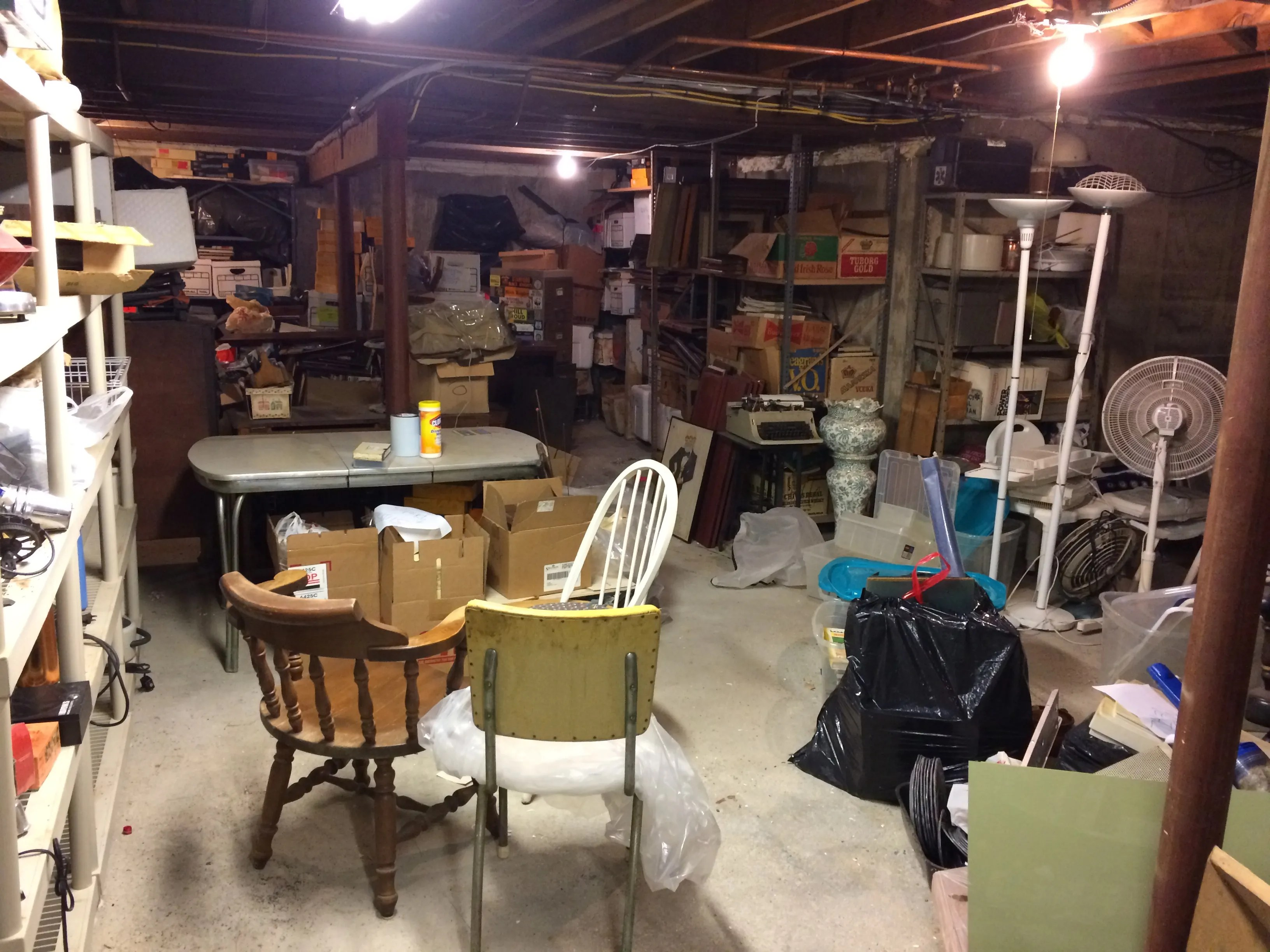 40 years of stuff packed into a basement