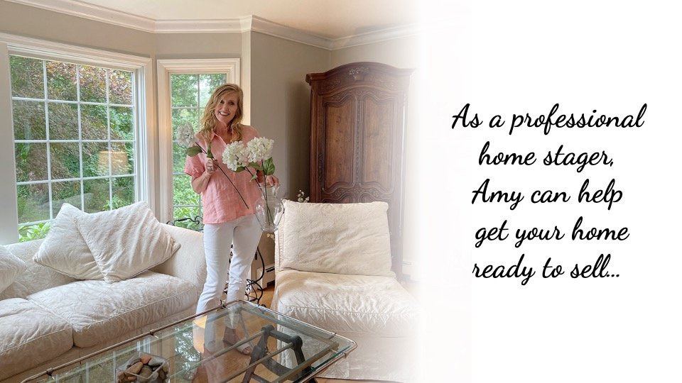 As a professional home stager, Amy can help get your home ready to sell…