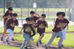 Baseball Team Running