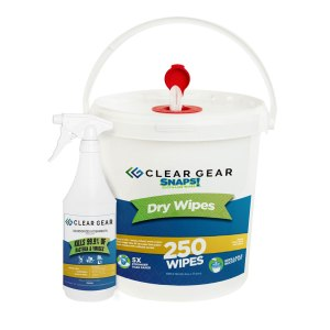 Clear Gear Wipes and 32oz Bottle Disinfectant