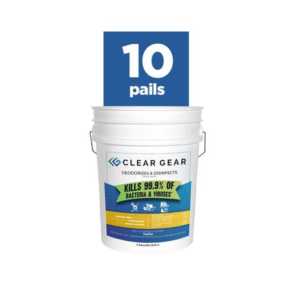 Clear Gear 5 Gallon Pail Bundle of 10