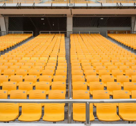 Disinfected Stadium Seats