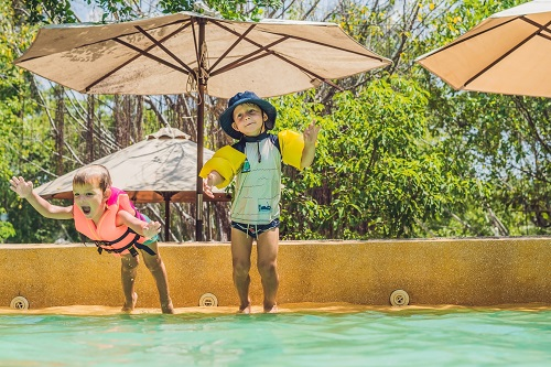 Avoid recreational water illnesses with bleach-free disinfectant