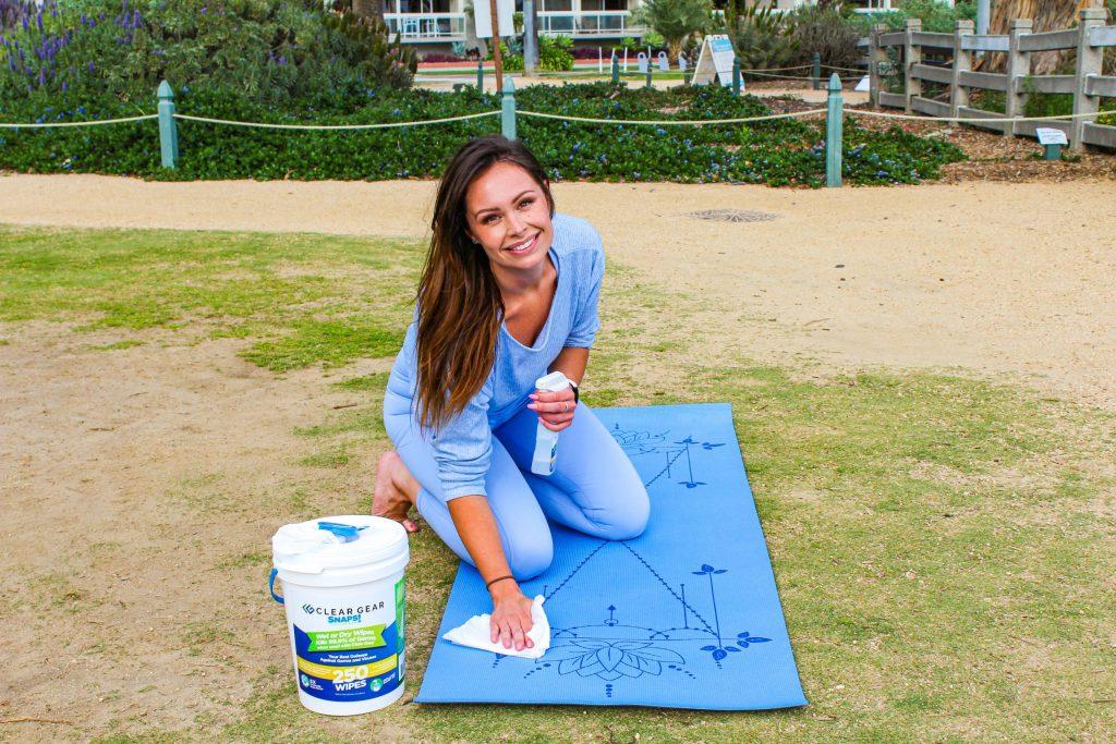 yoga mat disinfectant spray