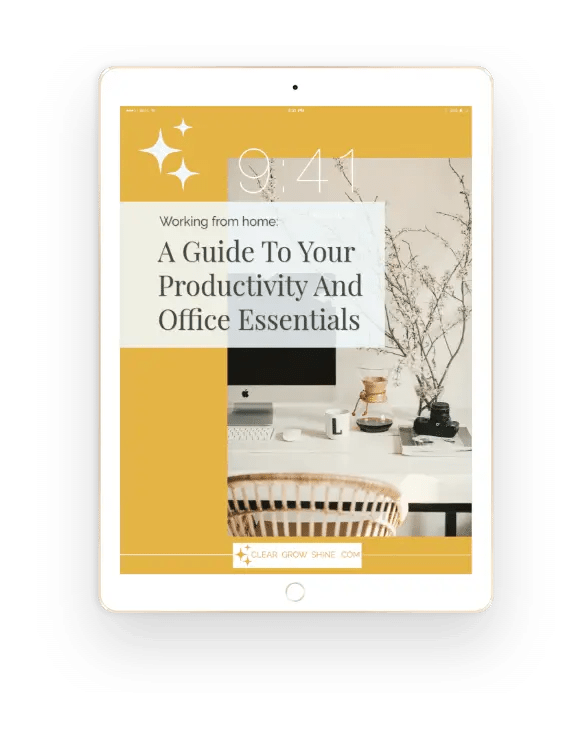 Productivity Guide Visual on an Ipad Gold