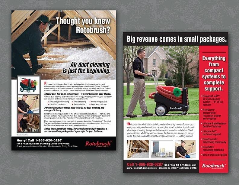Trade advertising for Rotobrush International