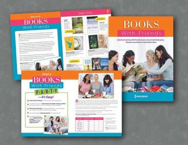 Brochure for book parties and online club